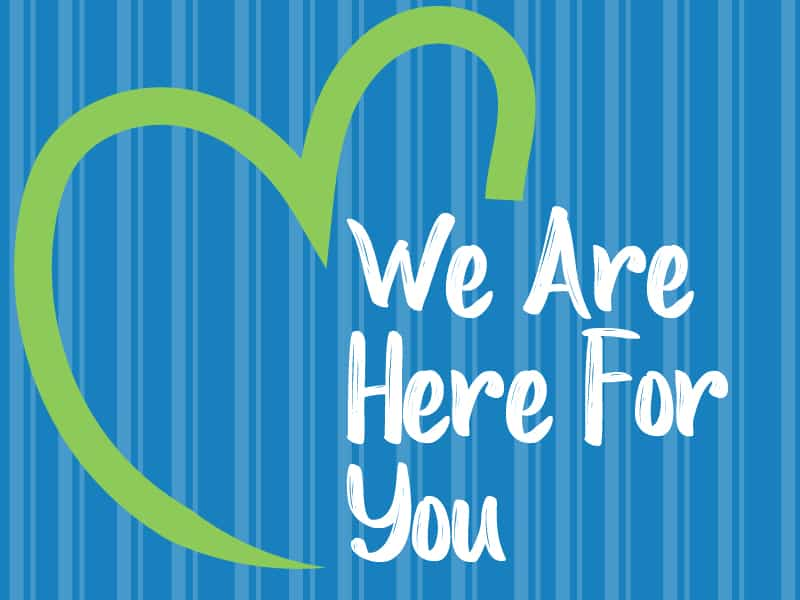 we are here for you image